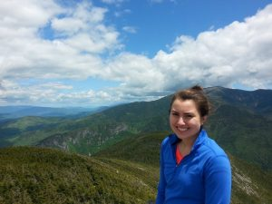 Courtney Whyte on top of Cannon Mtn. 2014